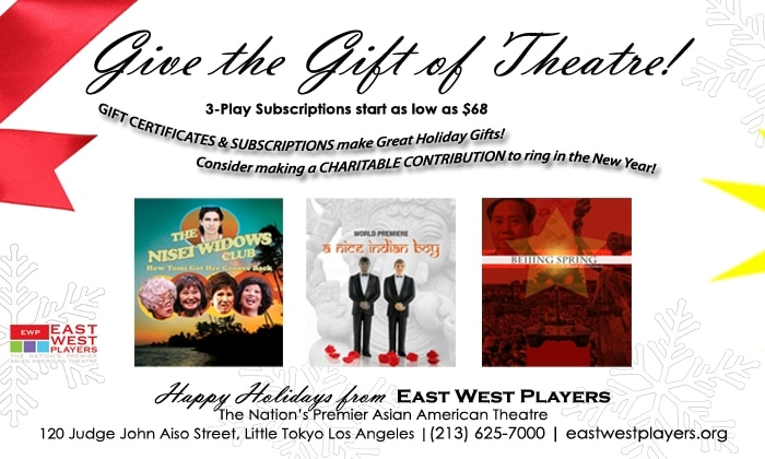 Give the Gift of Theatre! 3-Play Subscriptions as Low as $68!