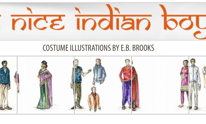 A NICE INDIAN BOY Costume Illustrations by E.B. Brooks