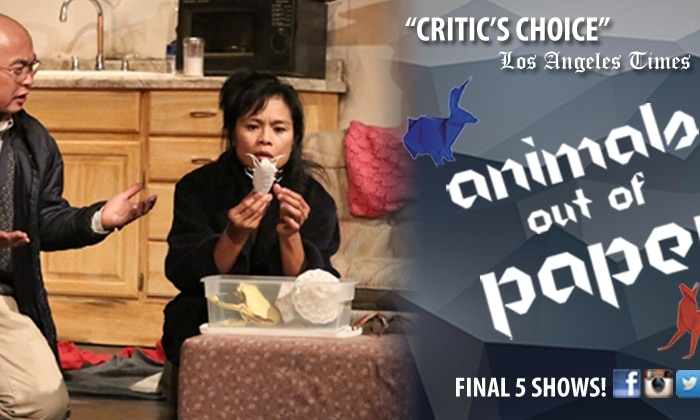 "1/2 Off Tickets to Final Shows of ""Animals Out of Paper"""